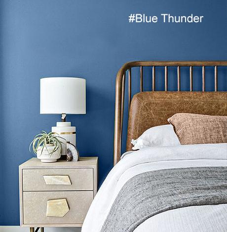 idée déco chambre adulte bleu - nuancier Mauvilac